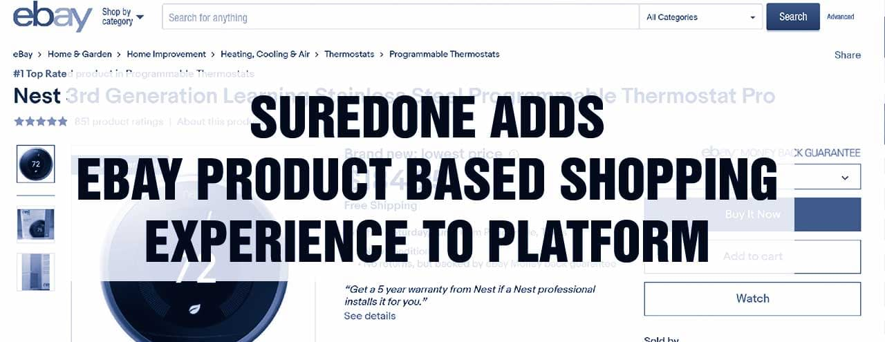 SureDone Adds eBay Product Based Shopping Experience